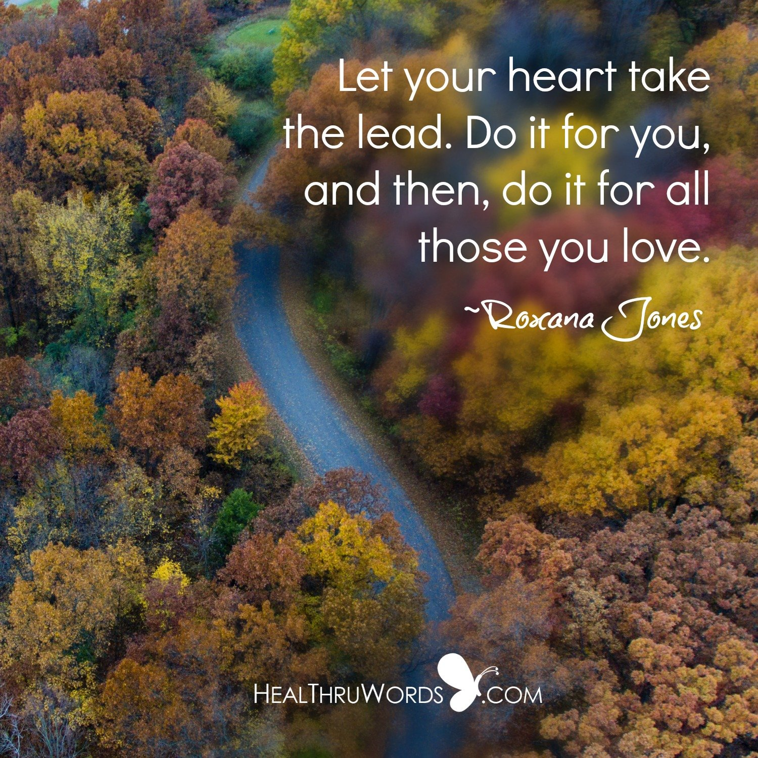Inspirational Image: The Heart Must Lead