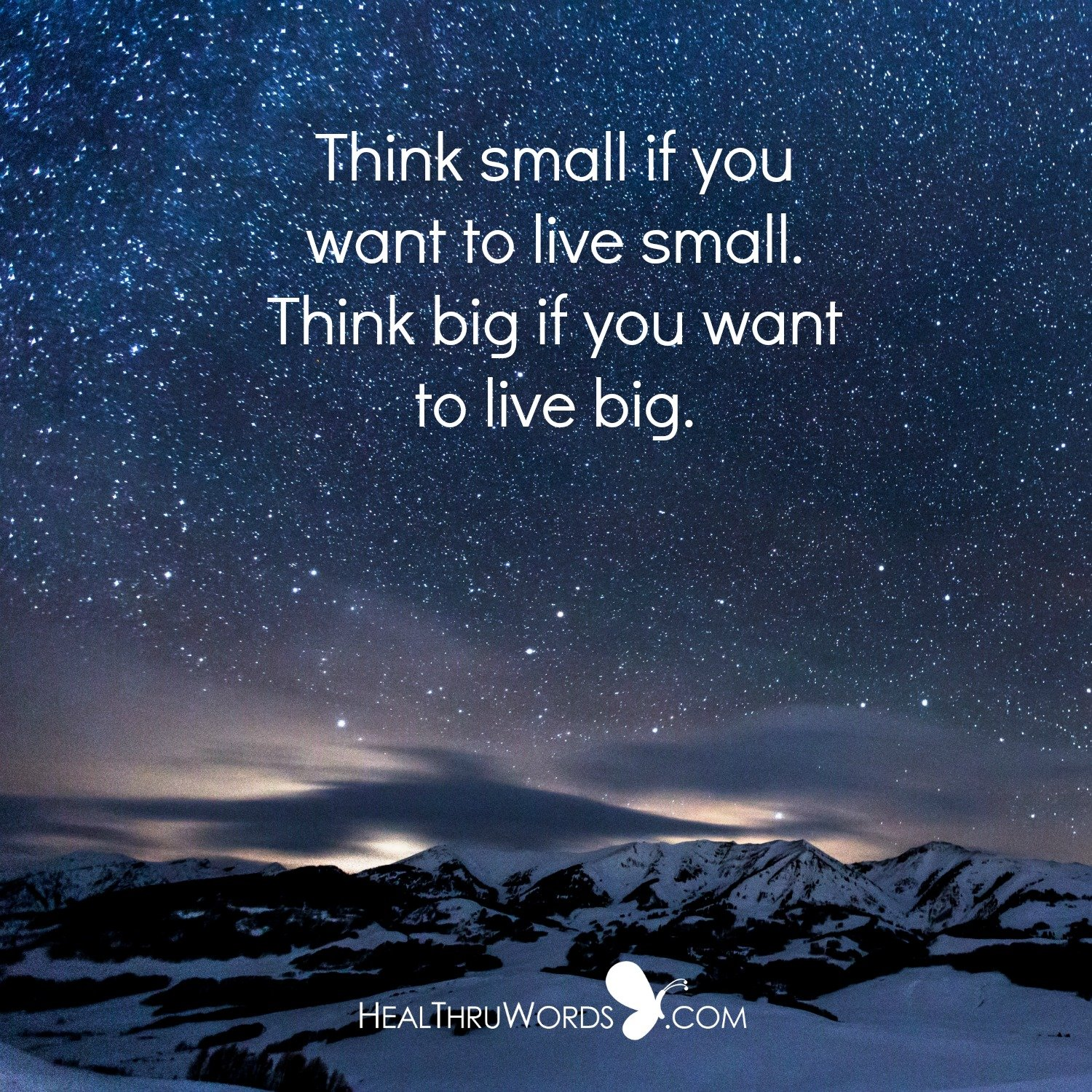 Inspirational Image: Small or Big?