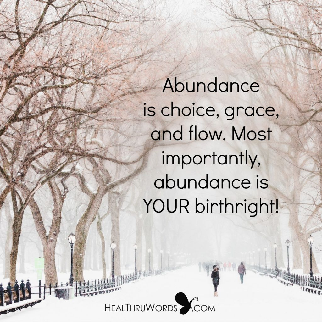 Motivational Picture - The True Meaning Of Abundance