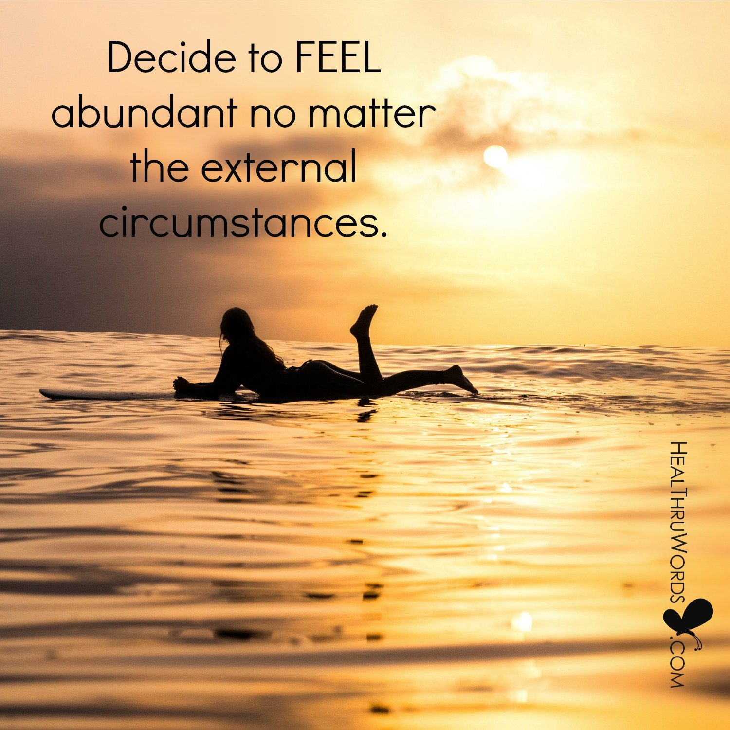 Inspirational Image: Feeling Your Abundance