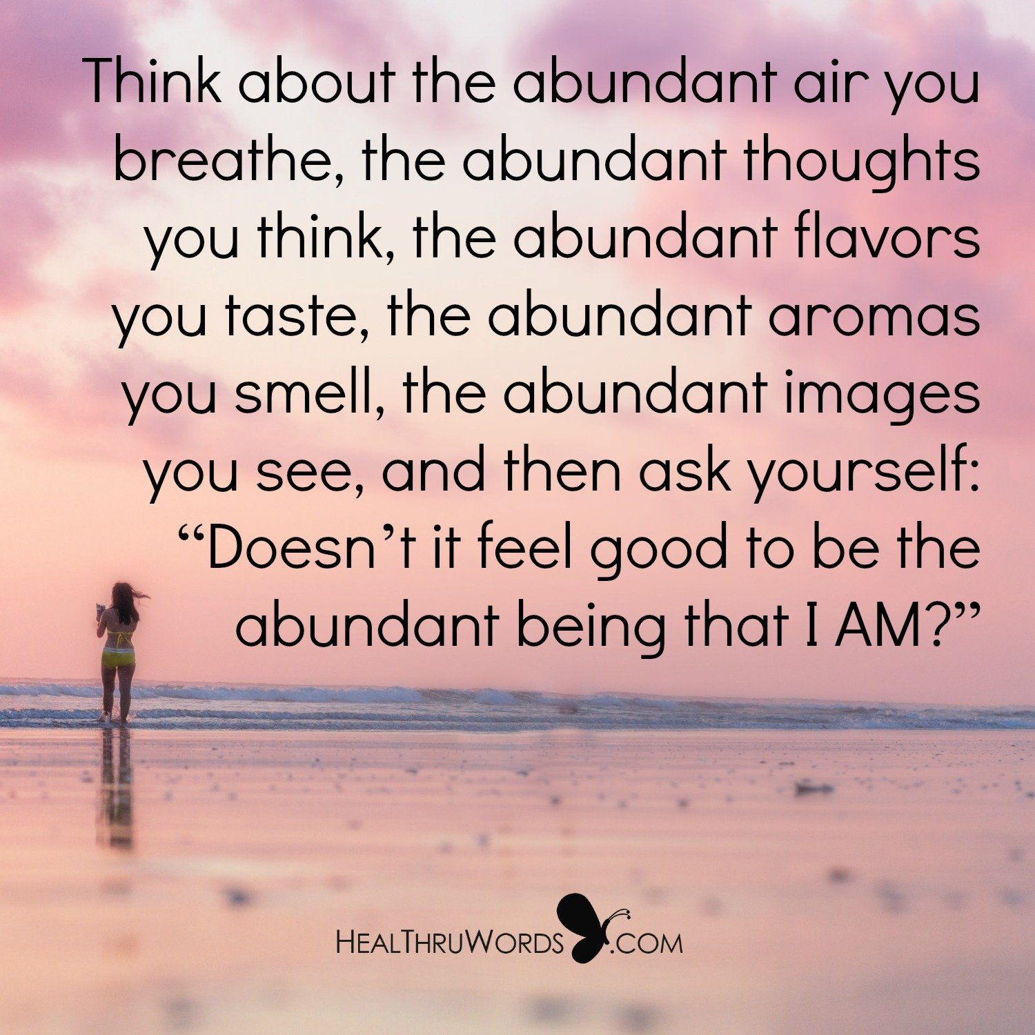 Inspirational Image: Being Abundantly