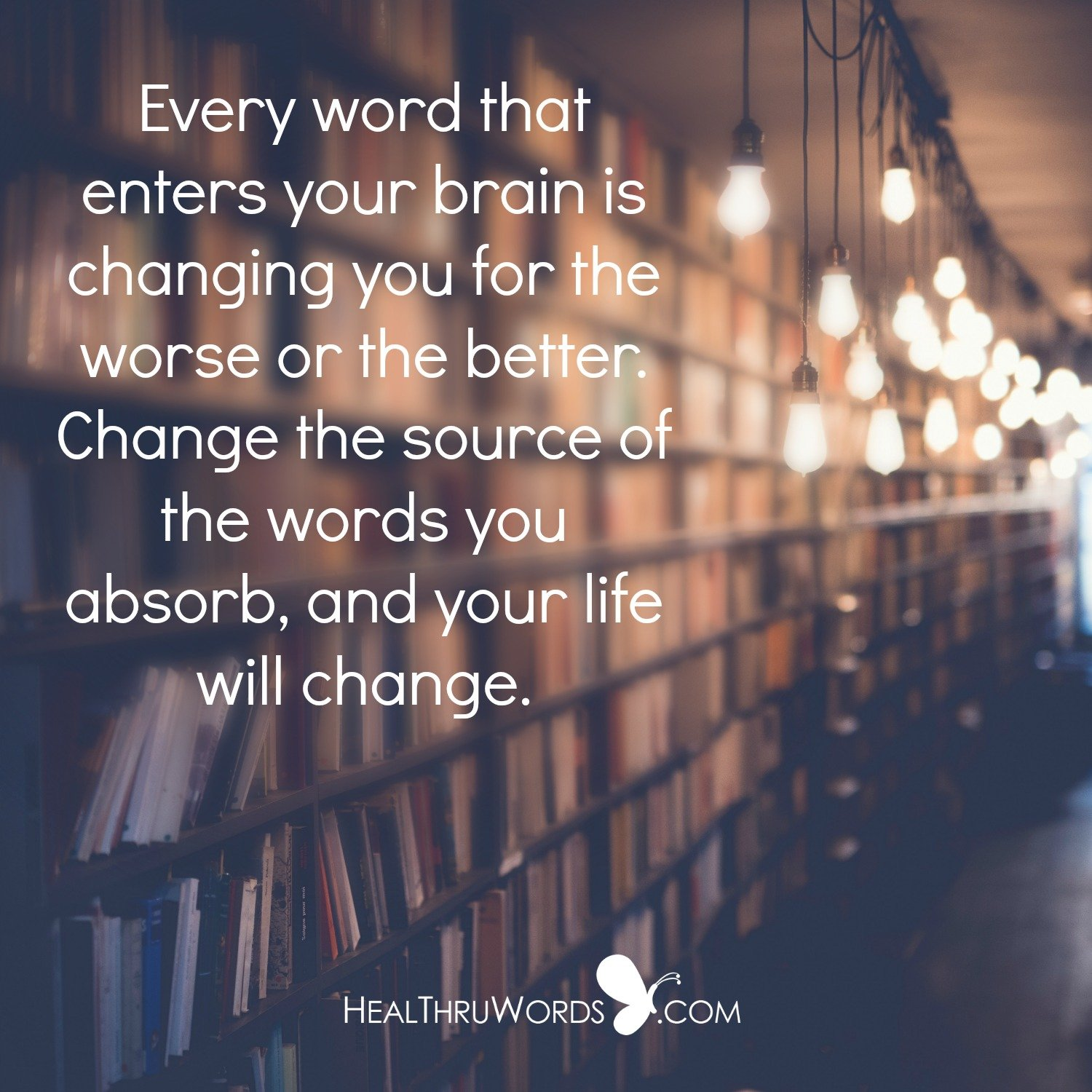 Inspirational Image: External Words