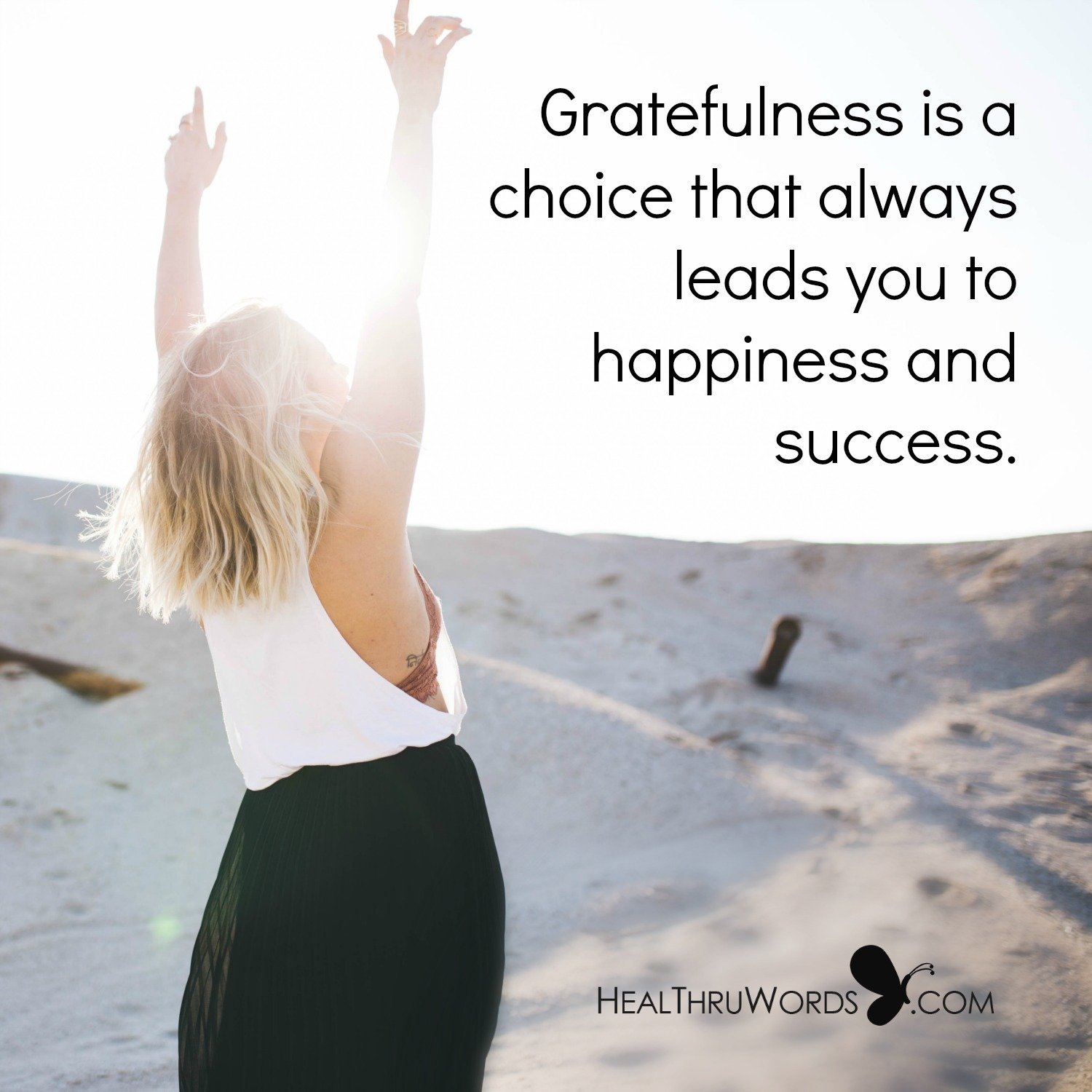 Inspirational Image: Grateful Choice