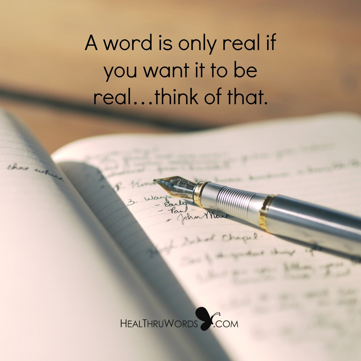 Inspirational Image: Real Words