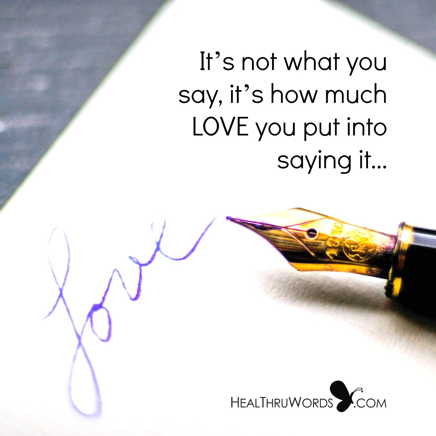 Inspirational Image: Say It With Love