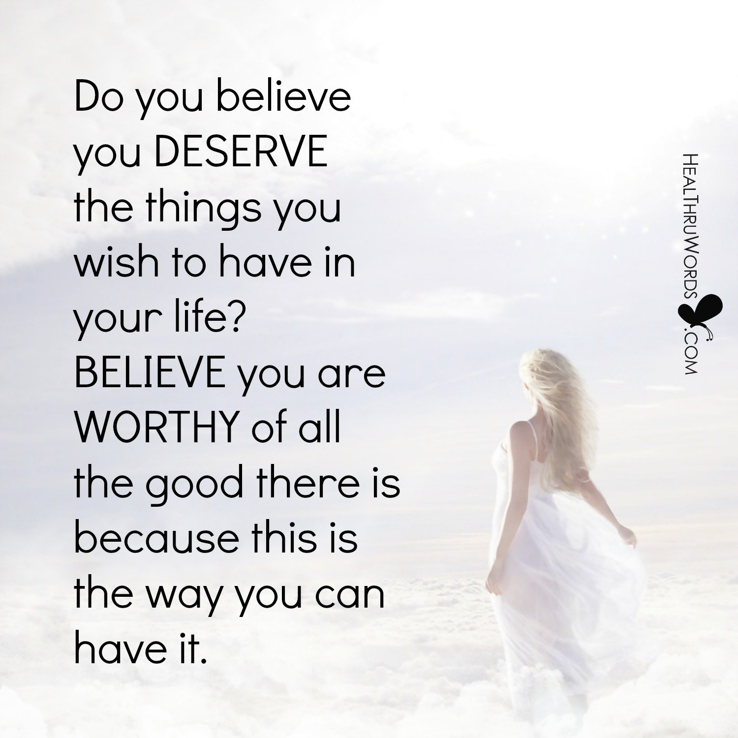 Inspirational Image: Deserving Your Dreams