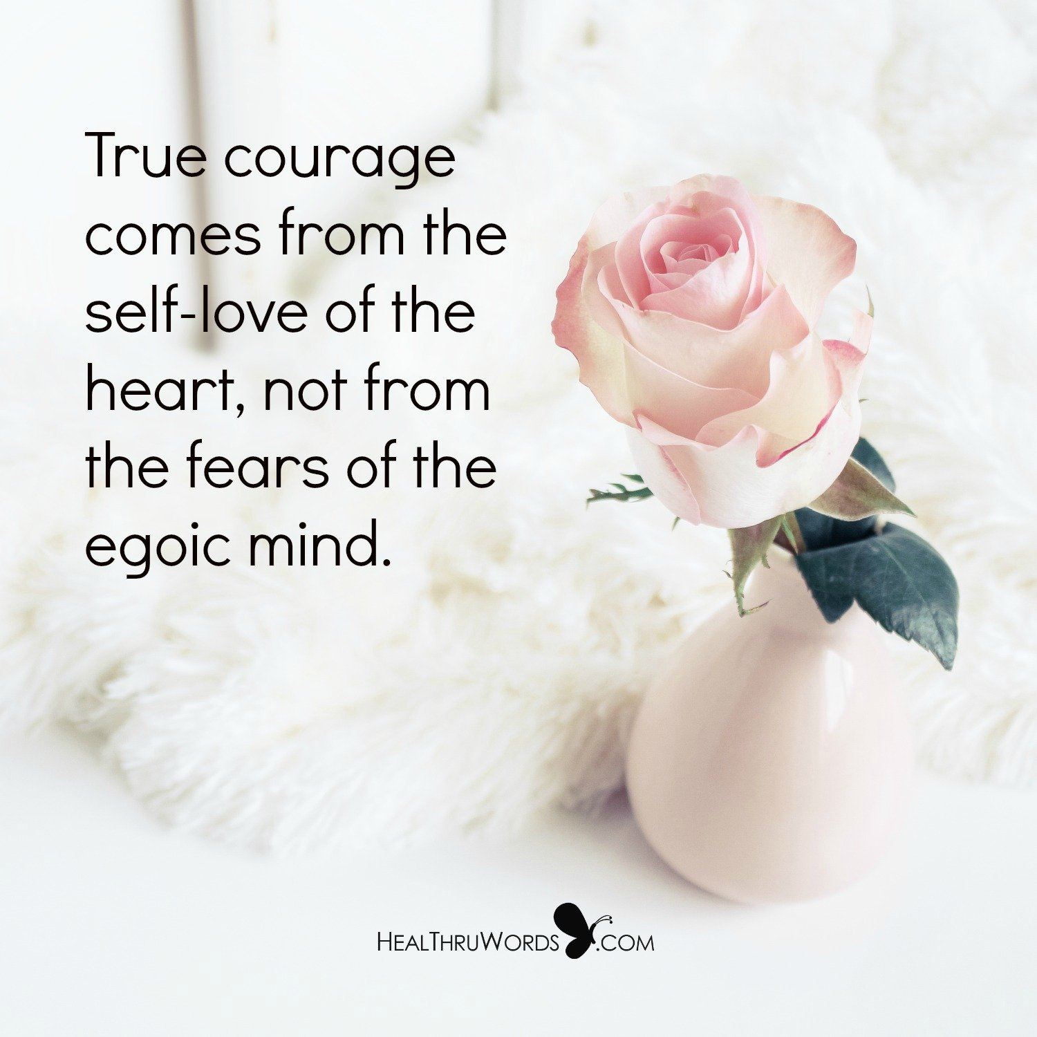 Inspirational Image: Self-love is Courageous